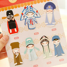 Hot 7Pcs Chinese Peking Opera Classical Bookmark Book Clip Office School Useful