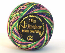 ANCHOR Pearl Cotton embroidery thread Ball.Great Color, Size 8 (85 Meters) x 1