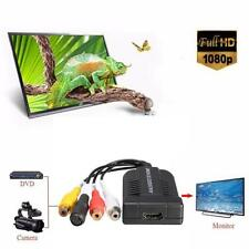 1080P HD AV & S-Video To HDMI Audio Adapter Converter W/ USB Cable For HD TV WT