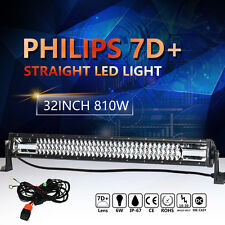 7D+ PHILIPS 810W 32INCH LED LIGHT BAR SPOT FLOOD COMBO LAMP OFFROAD ATV SUV 32""