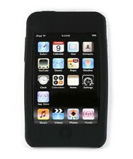 iPod i Pod Touch 2 3 2nd 3rd Gen Black Soft Silicone Case Cover Protector Skin