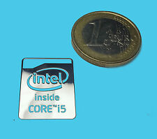 INTEL CORE i5 HASWELL  METALISSED CHROME EFFECT STICKER AUFKLEBER 16x21mm [41]