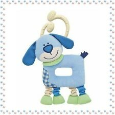 O - Doudou Plat Hochet Chien Bobby Chicco  Collection Les Rigolos'Formes
