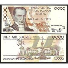 ECUADOR 10.000 Sucres 1998 UNC P 127 c