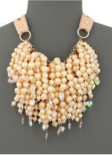 BETSEY JOHNSON PINKTINA LARGE PEARL MULTI STRAND ROSE GOLD necklace