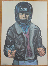 Vintage Police Law Enforcement Shooting Target Poster Motorcycle Scooter Gunman!