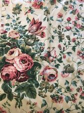 "1 PAIR WAVERLY Fieldcrest 42""X 86"" Panels Drapes Curtains Floral Vintage Rose"