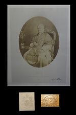 VATICAN VATICANO BISSON Frères - Pie IX, photographie d'après nature 1860 37x28.