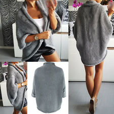 Winter Damen Cardigan Strickjacke Pulli Pullover Longshirt Poncho Mantel Tops