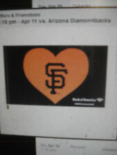 San Francisco Giants SF Heart Flag SGA 4/11/2017 I Love SF