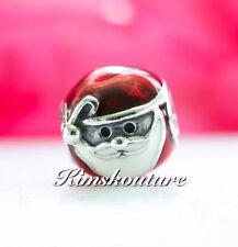 Authentic Pandora Charm Jolly Santa with Red and White Enamel 791405ENMX
