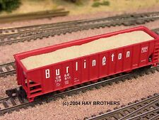 Hay Brothers SAND (FRACKING SAND) LOAD - fits ATLAS 90-Ton 3-Bay Hopper Cars