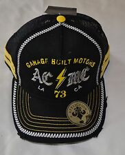 Affliction Black Cap Hat Distressed  Retail $45 NWT One Size Adjustable MMA UFC