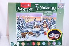 "Reeves Paint By Number Kit PL/150 Snowscene 12""X16"""