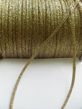 Stunning 3.5 MM Metallic Golden Trims / Ribbons / Christmas- 5 yards (T562)