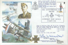 HA35c Barker VC DSO MC RAF cover signed ACM Cheminant