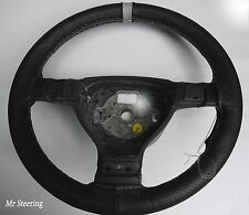 FITS JEEP LIBERTY KJ 01-07 PERFORATED LEATHER + GREY STRAP STEERING WHEEL COVER