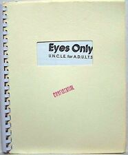 """Man from UNCLE Fanzine """"Eyes Only 1, 3, 7"""" Gen story collection."""