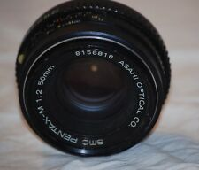 SMC Pentax-M 1:2 50mm SLR K Mount Camera Lens Asahi Optical Co.