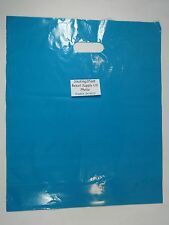 """100 Qty. 15"""" x 18"""" x 4"""" Teal Glossy Low Density Merchandise Retail Shopping Bags"""