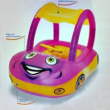 Safety Car Sunshade Inflatable Baby Float Seat Boat Swim Pool Water Fun Purple