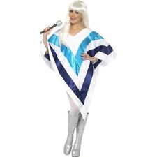 Women's Super Trooper Poncho Cape Music Icon 1970's Swedish Group Fancy Dress