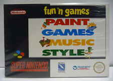 FUN'N GAMES PAINT GAMES MUSIC STYLE - SNES SUPER NINTENDO PAL BOXED