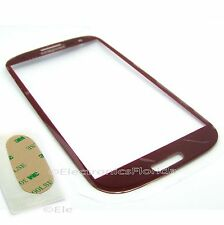 Red Screen Glass Lens for Samsung Galaxy SIII S 3 i9300 Replacement Part NEW