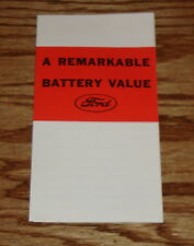 1931 Ford Remarkable Battery Value Foldout Sales Brochure 31 Car Truck