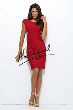 Mac Duggal 40306--Color: Red/Nude--Size 10