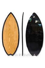 "51.5"" Epoxy EPS Skimboard Medium Swallow Tail Wood Carbon Skim Surf"
