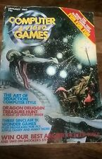 COMPUTER & VIDEO GAMES No 3 Jan 1982 Magazine RETRO GAMING MAG