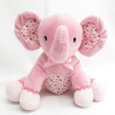 CARTERS  PINK BABY ELEPHANT PLUSH FLOWER MUSICAL WIND UP TOY MUSIC FLORAL