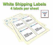 1000 4 x 5 label - template 5168 - 4 per page - Laser & Inkjet - Trusted Quality