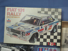 NEW, Rare FIAT 131 RALLY ESCI SPONSOR, Made in Italy 1/24 Scale,  Model Race Car