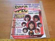 1972 David Cassidy Michael Jackson 5 Teen 16 SPEC magazine Donny Marie Osmond