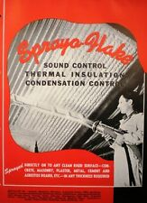 SPRAYO-FLAKE Insulation Catalog Acoustic Sound Control Sprayed ASBESTOS 1945