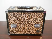 New caboodles train makeup case cosmetic organizer storage make me over cheetah