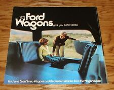 1972 Ford Wagons Sales Brochure Gran Torino Recreation Wagonmaster 72