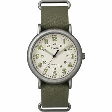 Timex Weekender Oversized | Green Nylon Strap 24-Hour Time | Casual TW2P85900