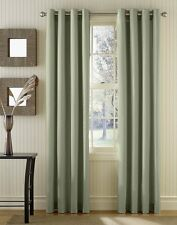 Thermal Solid Blackout Panels Set of 2 Grommet Curtains 57W x 84L Energy Saving