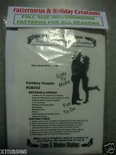 COWBOY COWGIRL COUPLE   SILHOUETTE woodworking pattern , plan (PATTERNSRUS)