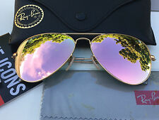 Authentic RAYBAN AVIATOR SUNGLASSES Rose Gold (Cooper)/Gold RB3025 019/22 58mm