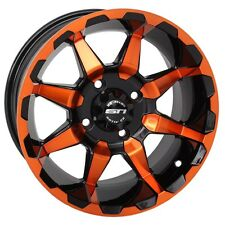 "STI 14"" HD6 Aluminum Orange Rim Wheel Polaris RZR 1000 RZR1000 Ranger Sportsman"