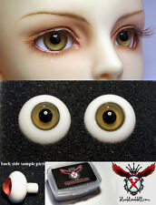 1/3 1/4 bjd 16mm fade yellow color high quality glass doll eyes dollfie #A-10