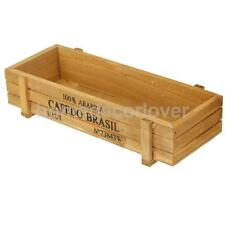 Wood Planter Garden Yard Rectangle Flower Succulent Bed Trough Plant Pot Box