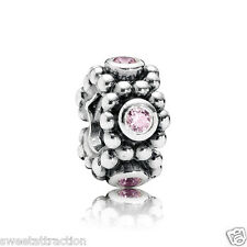 New Authentic Pandora 791122PCZ Charm Her Majesty Pink Spacer Box Included