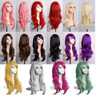 Sexy Women Curly Wavy Synthetic Anime Cosplay Party Full Wigs Long Hair Wig 70cm