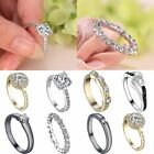 Exquisite Beautiful Silver/Gold Plated Simple Rhinestone Rings Women Men Unisex