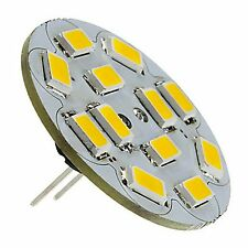 3 x G4 6W 12 SMD LED 5730 12V DC 270LM BACK PIN WARM WHITE (2700K) BULBS ~35W